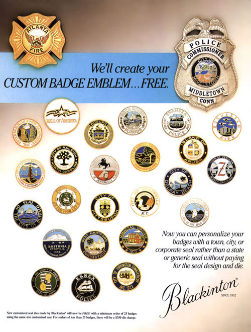 Police Badges - VH Blackinton - Custom Badge Emblem   Free